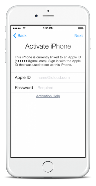 Activation Lock Screen Removal on iPhone