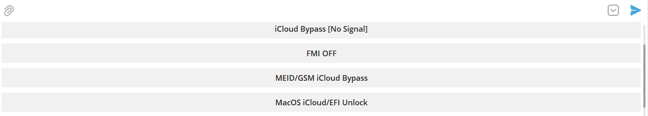 CheckM8 Telegram bot categories choosing