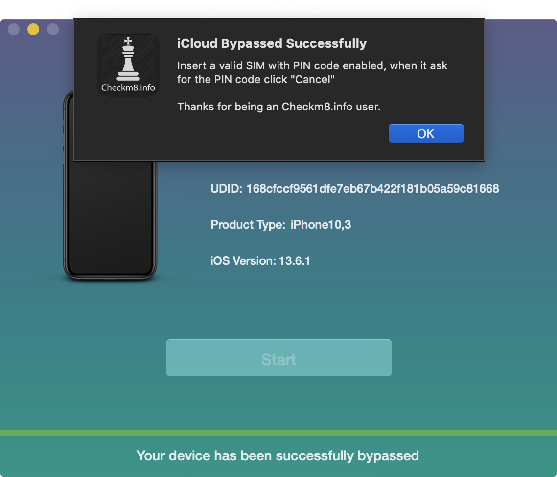 Remove iCloud Activation Lock Screen on Apple without GSM module device using Checkm8