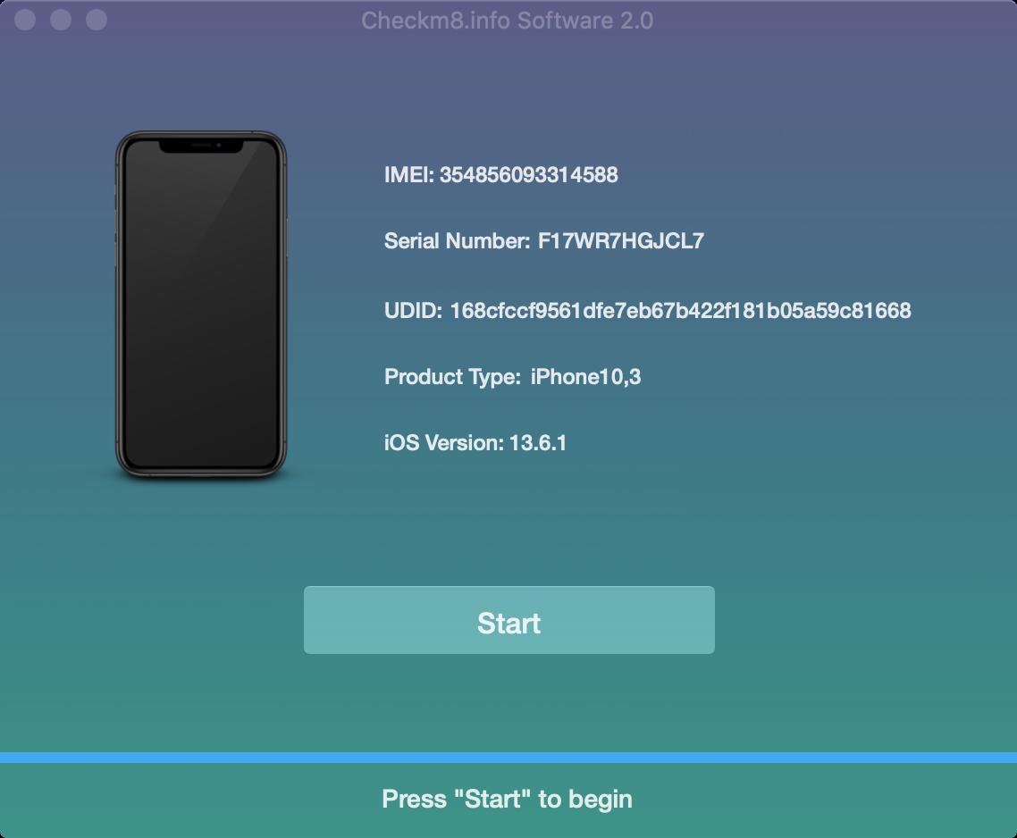 checkm8 software start unlock porcess