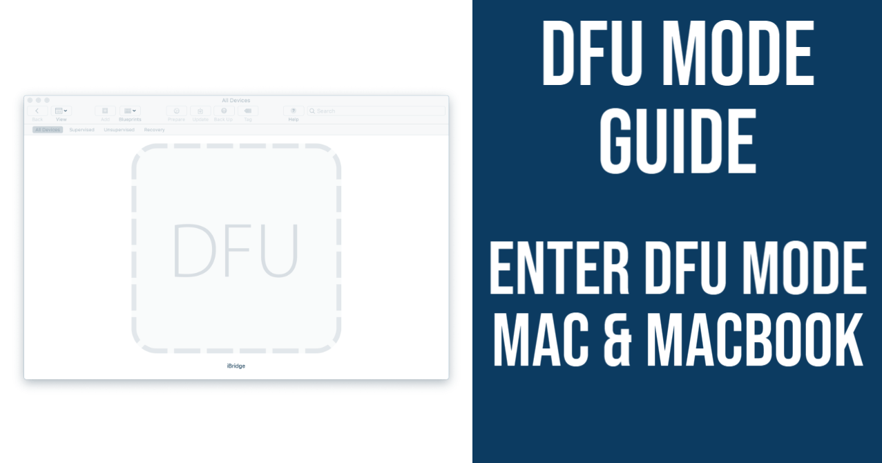 Guides on How to Enter DFU Mode on Your Mac